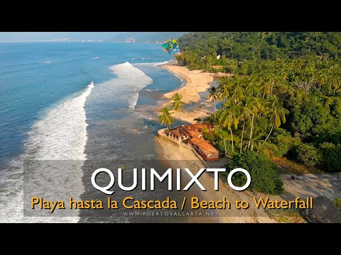 Playa Quimixto a Cascada, recorrido completo / Full hike Quimixto Beach to Waterfall, Jalisco Mexico