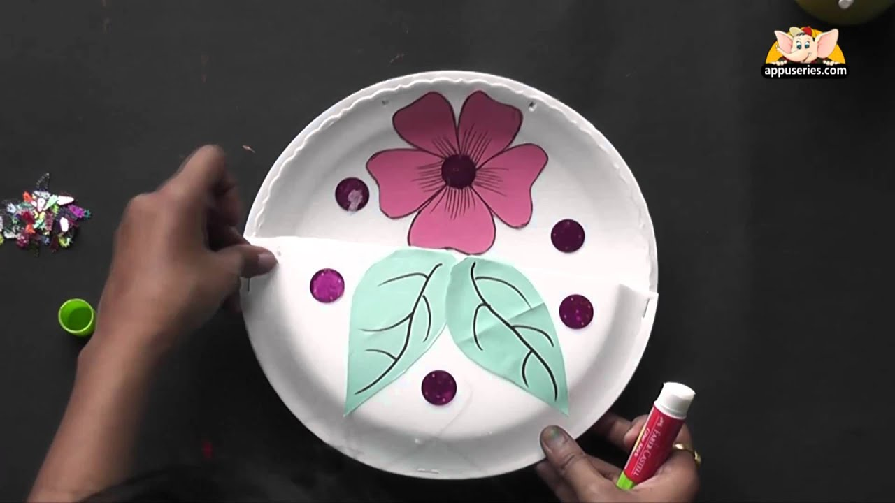 How To Make A Flower Basket Arts Crafts In Hindi Youtube