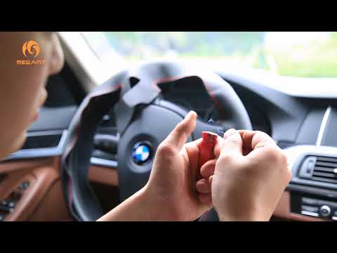 How To Install Hand Stitching Leather Steering Wheel Cover For BMW (MEWANT®  Official Video)