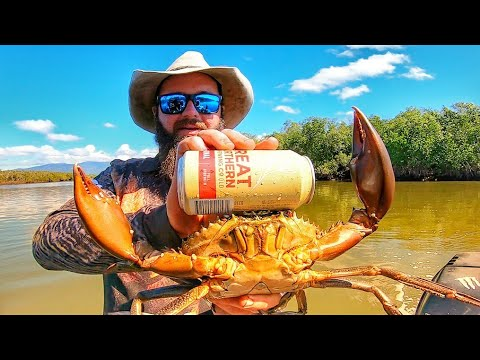 CATCHING GIANT MUD CRABS USING DILLY CRAB POTS - A DIFFERENT WAY TO CATCH MUD CRABS - SKIDPIG