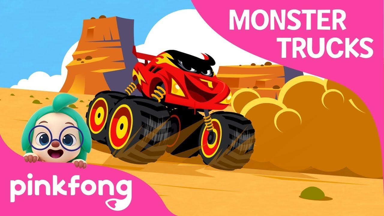 Im a Monster Truck | Monster Trucks | Car Songs | Pinkfong Songs for Children