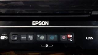 LUZ DA TINTA ACESA EPSON L355 L210 L220 L110 COMO RESOLVER