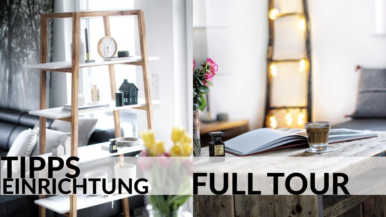 Dekorieren der wohnung tipps  Die volle WOHNUNGSTOUR I Wohnung neu einrichten I ...