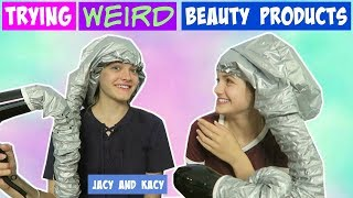 Trying WEIRD Beauty Products 2 ~ Jacy and Kacy