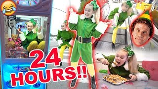 24 HOURS AS BUDDY THE ELF CHALLENGE