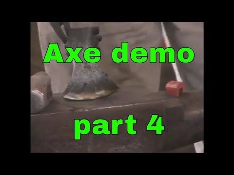 2014 Axe forging demonstration - Rocky Mountain Blacksmithing conference - part 4