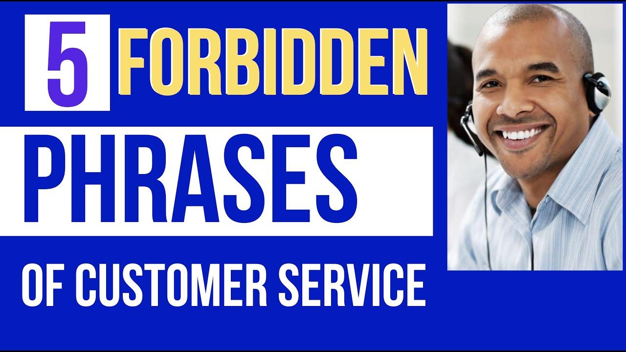 customer service sentences