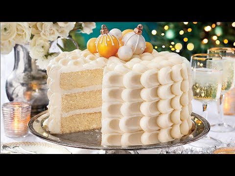 Snowy Vanilla Cake With Cream Cheese Buttercream | Southern Living