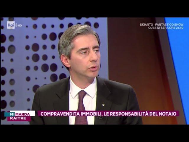 Compravendite immobili: Intervista al Presidente FIAIP Gian Battista Baccarini  - Mi Manda RaiTre
