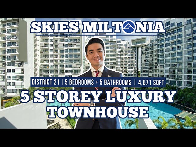 Singapore Luxury Property Skies Miltonia Foreigner Eligible Townhouse  For Sale