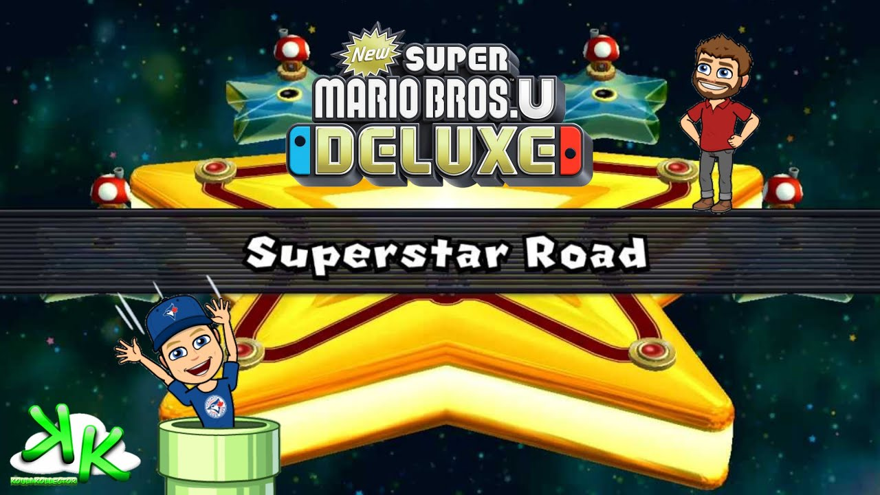 New Super Mario Bros U Deluxe Superstar Road Bonus Level
