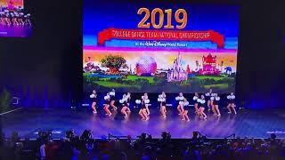 The Ohio State University Dance Team Pom 2019 NATIONAL CHAMPIONS