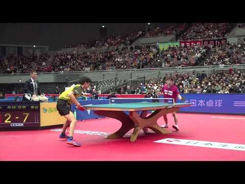 丹羽孝希(スヴェンソン)vs戸上隼輔(野田学園高)|男子シングルス準々決勝|2020年全日本卓球大会6日目ハイライト