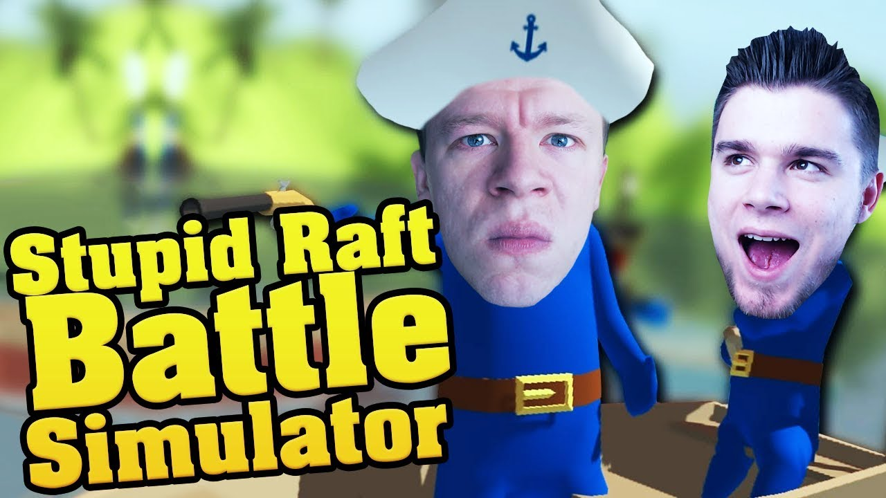 BITWA NA OCEANIE!   Stupid Raft Battle Simulator [#2] /With: Plaga