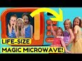 HUGE Magic Microwave Playing with Princesses in Real Life