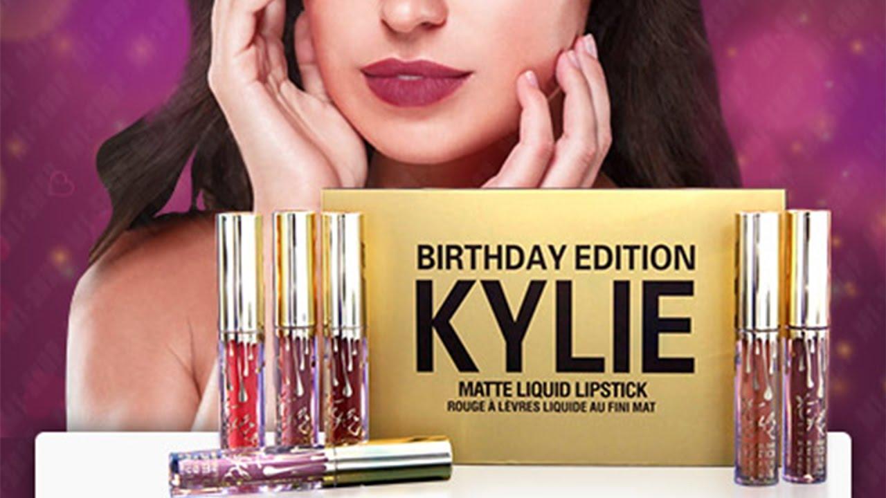 Набор помад Kylie Birthday. Купить помаду - YouTube 7fb688acc1618