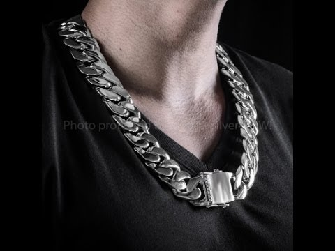 necklace item brand for color long men chain bohemian trendy new plated steel vintage stainless thick gold real male