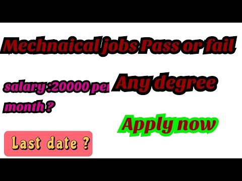Mechanical jobs-Fail or pass.
