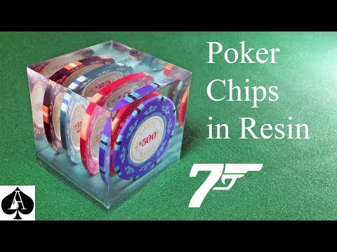Casting James Bond Casino Royale Poker Chips In Resin Cube Paperweight