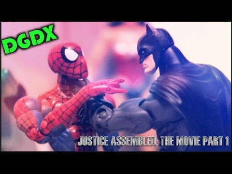 """Justice Assembled: A DGDX Animation""- THE MOVIE (PART 1) Marvel / DC Stop Motion (2013) *HD*"
