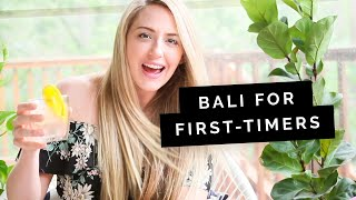 Bali for first-timers