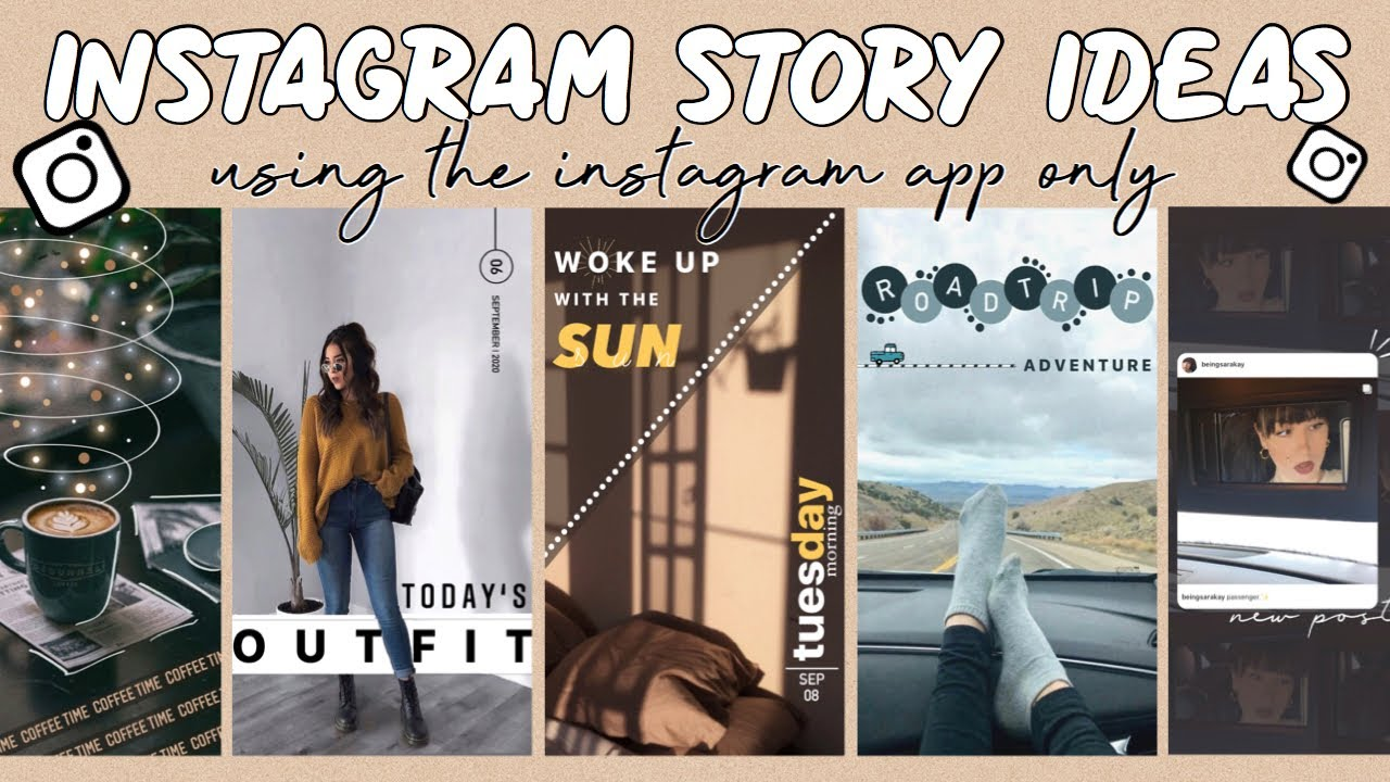 6 Creative Instagram Story Ideas | Using the IG App ONLY
