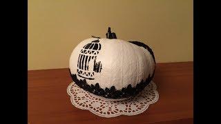 декорирование тыквы. ( Decor of pumpkin)
