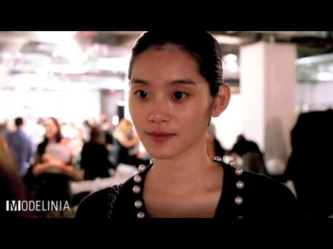 Ming Xi at Zac Posen NYFW Spring 2015