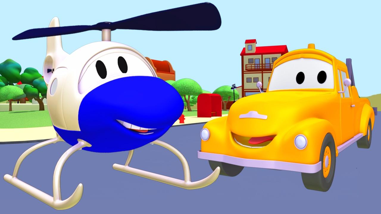 Tom Si Truk Derek Dan Helikopter Di Kota Mobil