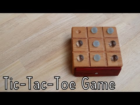 How To Make a Marble Tic-Tac-Toe Game out of Wood - Toys For Charity