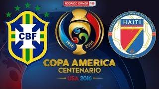 BRASIL x HAITI !!!! MELHORES MOMENTOS 7X1  08 06 16   COPA AMÉRICA 2016 !!!!