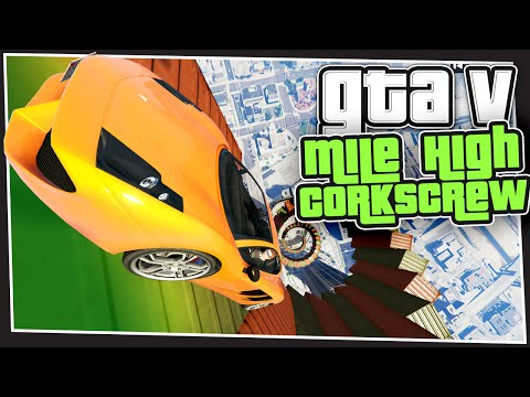 GTA 5 Online - Mile High Corkscrew (GTA Custom Games Funny Moments)