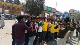 Railway Group D ke result scam खिलाफ आंदोलन 5