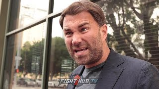 EDDIE HEARN GOES IN ON BOB ARUM AFTER BOB TELLS HIM HE DOESN'T KNOW NOTHING ABOUT PROMOTING IN U.S.