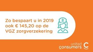 Zo bespaart u € 145,20 op de VGZ zorgverzekering!