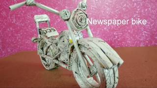 News paper bike | paper craft | best out of waste