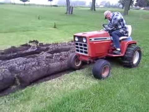 Cub 982 plowing