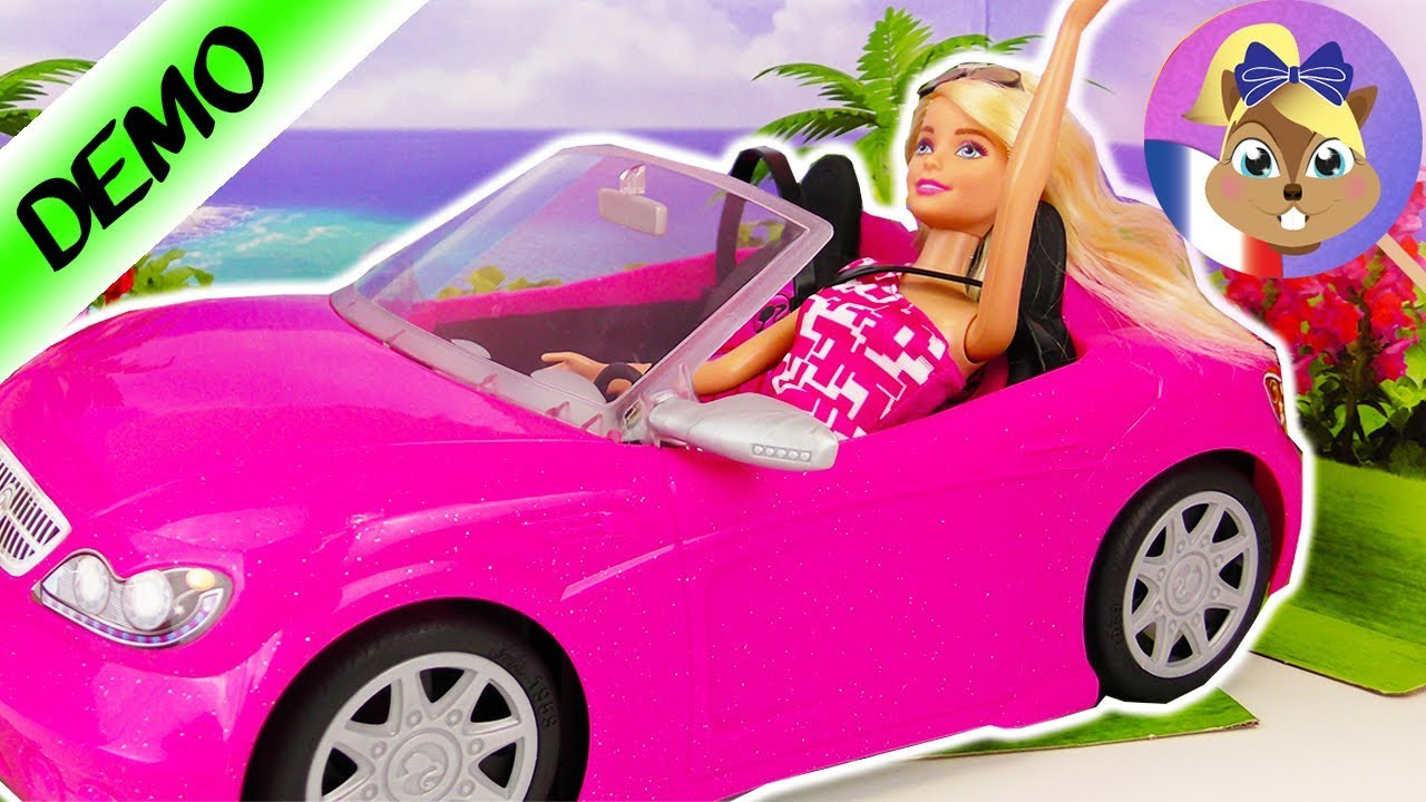 cabriolet barbie voiture chic pour barbie meilleures amies jouer avec poup e barbie youtube. Black Bedroom Furniture Sets. Home Design Ideas