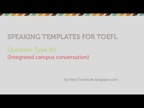Toefl speaking templates question type 5 youtube pronofoot35fo Images