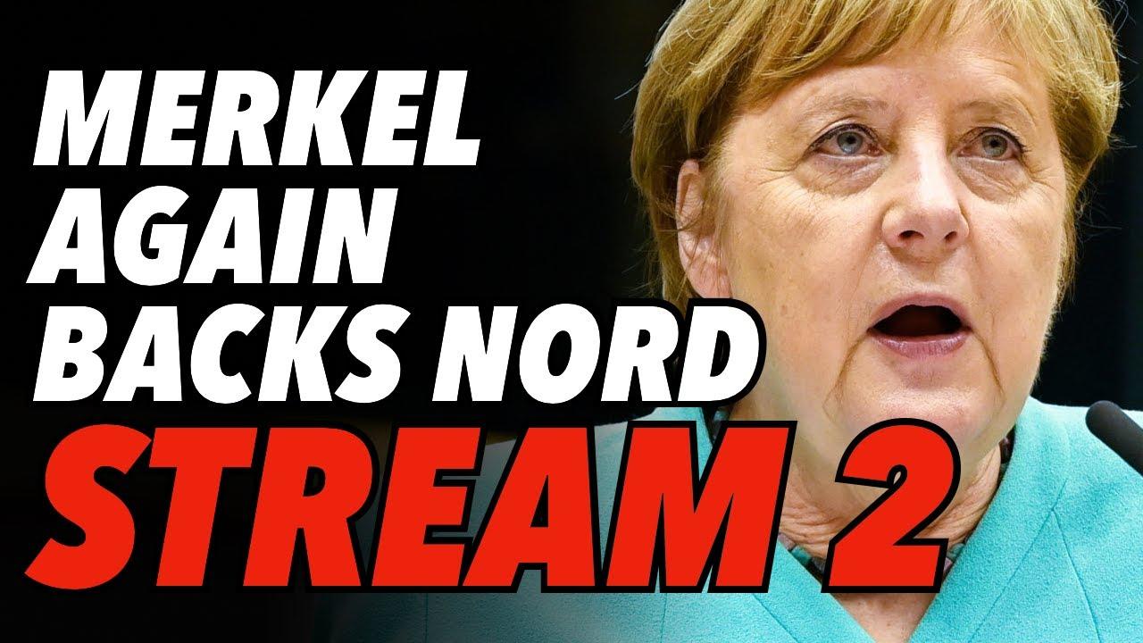 Merkel Again Backs Nord Stream 2, Now 95% Complete