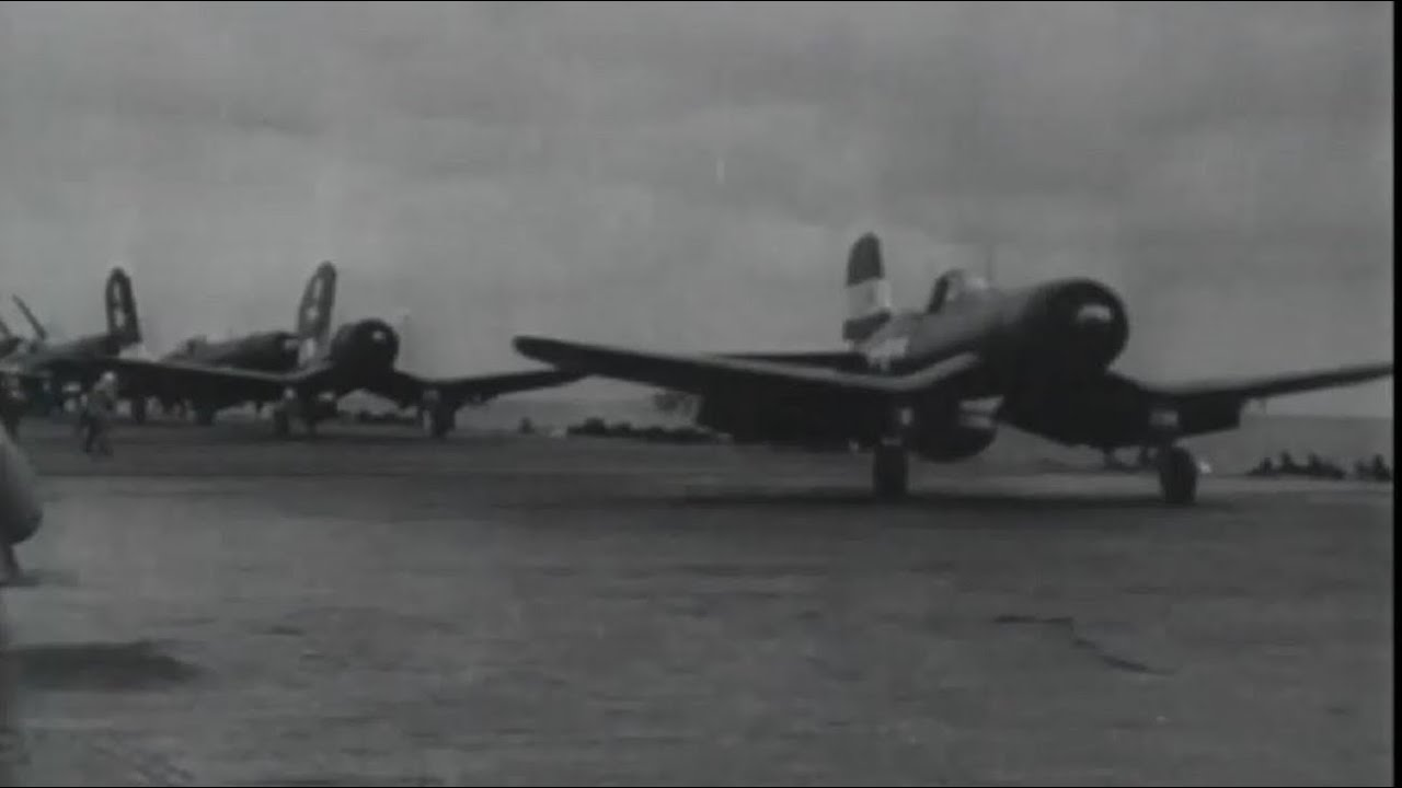 US Navy Aircraft Carrier Planes Attack Tokyo Targets Gun Camera Footage WW2