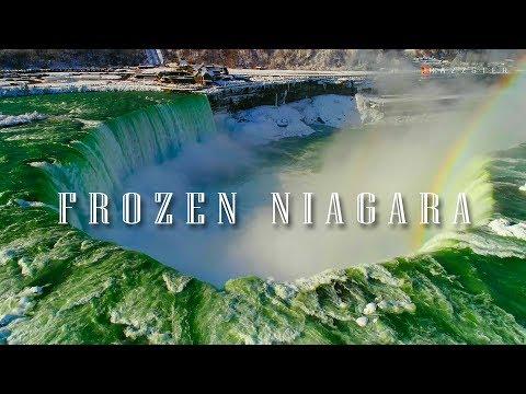 Frozen Niagara Falls 2018, Drone Footage
