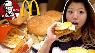 Special KOREAN McDonald's & KFC Menu Items ? Seoul Korea Fast Foods