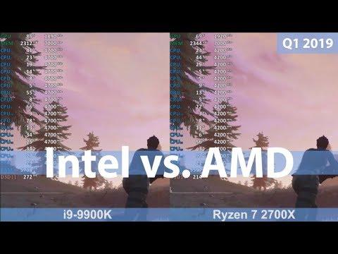 AMD vs Intel in 2019 - Ryzen 7 2700X vs i9-9900K - CPU