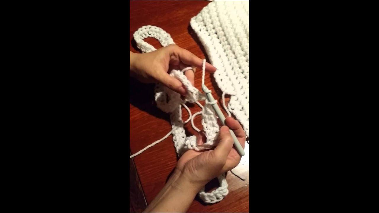 snood au crochet effet tricot artisanat du nord youtube