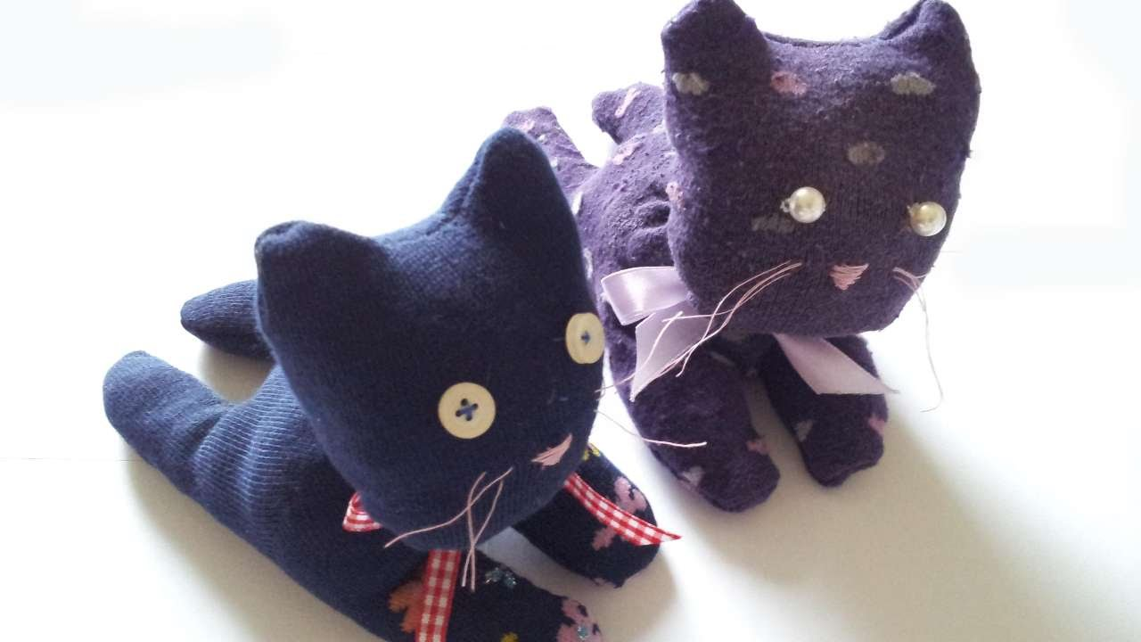 04465fc30 How To Make A Cute Sock Cat - DIY Crafts Tutorial - Guidecentral - YouTube