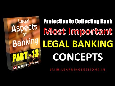 Protection to Collecting Banker NI Act Legal and Regulatory Aspects of Banking JAIIB