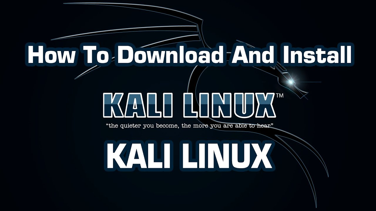 4664997d151 How To Download And Install Kali Linux - YouTube