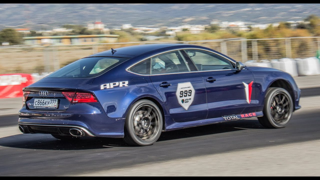900 HP Audi RS7 on Unlim 500+ Greece '14 - YouTube