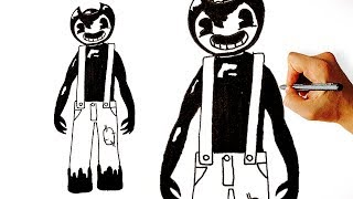 How to draw Sammy Lawrence from Bendy and the Ink Machine step by step